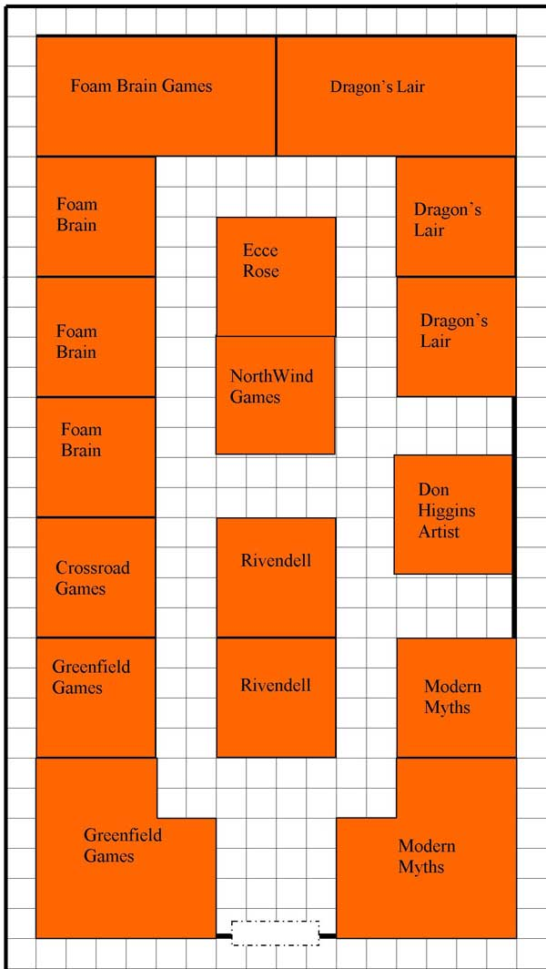 dealer hall map